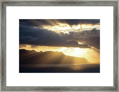 Ponta Do Rosto Framed Print by Evgeni Dinev