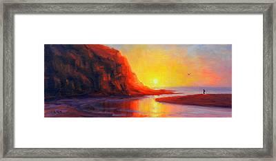 Ponta Negra, Peru Impression Framed Print