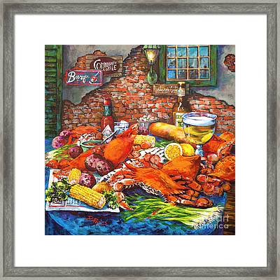 Pontchartrain Crabs Framed Print