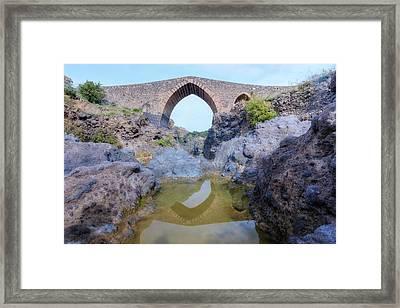 Ponte Dei Saraceni - Sicily Framed Print by Joana Kruse