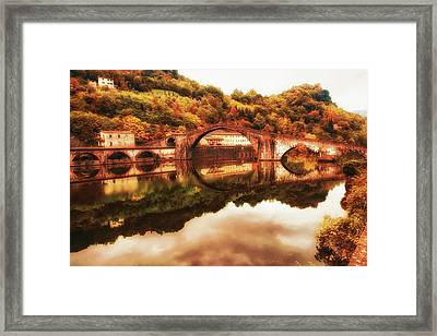 Ponte Della Maddalena - Dreamy Landscape Framed Print by Frank Andree