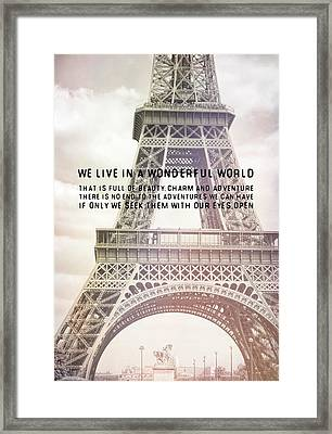 Ponte D'lena Sculpture Quote Framed Print by JAMART Photography