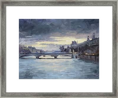 Pont Du Carrousel, Paris Framed Print