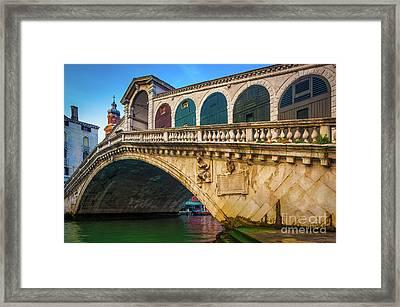 Ponte Rialto Framed Print by Inge Johnsson