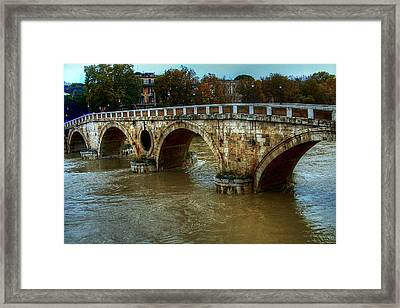 Ponte Sisto Bridge Rome Framed Print