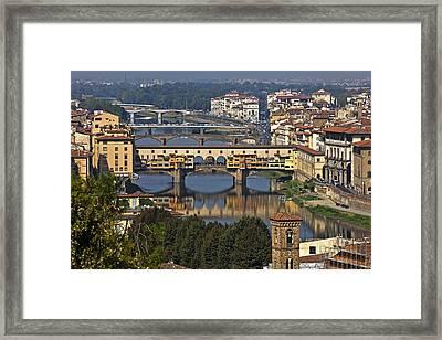 Ponte Vecchio - Florence Framed Print by Joana Kruse