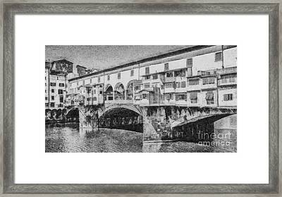 Ponte Vecchio Framed Print by Edward Fielding