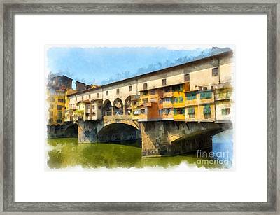 Ponte Vecchio Florence Italy Framed Print