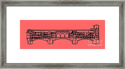 Ponte Vecchio Florence Tee Framed Print