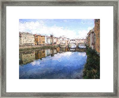 Ponte Vecchio In Florence Italy Framed Print