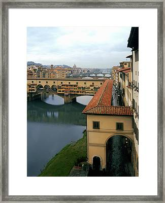 Ponte Vecchio Framed Print by Warren Home Decor