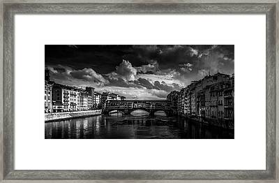 Ponte Vecchio Of Florence Framed Print