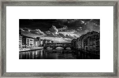 Ponte Vecchio Of Florence Framed Print