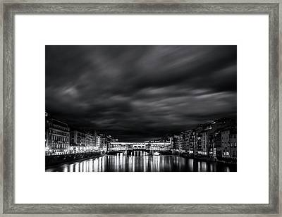 Ponte Vecchio Reflections Framed Print by Andrew Soundarajan