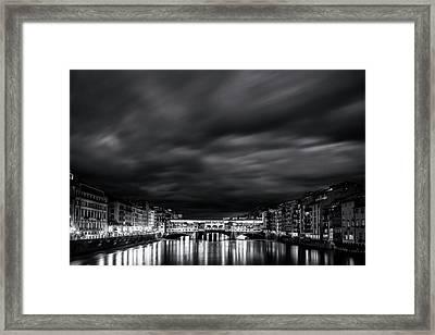 Ponte Vecchio Reflections Framed Print