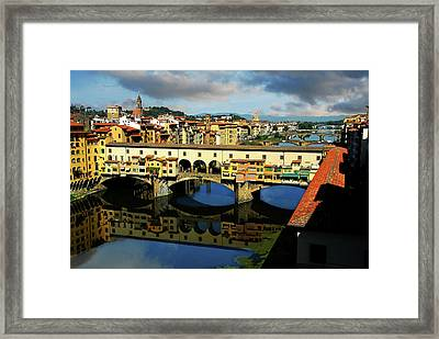 Ponte Vecchio View  Framed Print