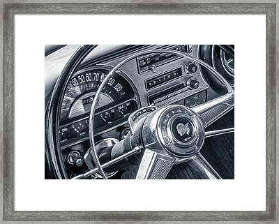 Pontiac Chieftain Dash And Steering Wheel Framed Print by Jim Hughes