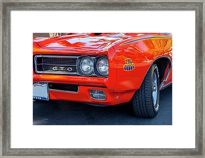 Pontiac G T O Judge 1969 Convertible Framed Print