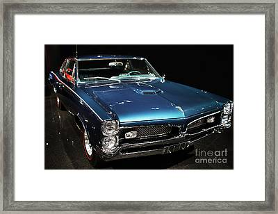 Pontiac Gto 2 Framed Print by Wingsdomain Art and Photography