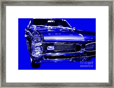 Pontiac Gto Blue Framed Print by Wingsdomain Art and Photography