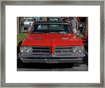 Framed Print featuring the photograph Pontiac Gto by Dodie Ulery