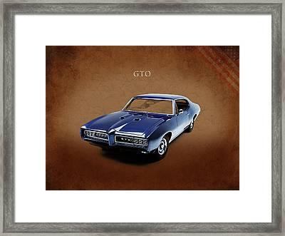 Pontiac Gto Framed Print by Mark Rogan