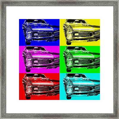 Pontiac Gto Six Framed Print by Wingsdomain Art and Photography
