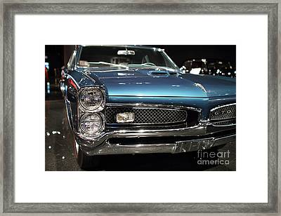 Pontiac Gto Framed Print by Wingsdomain Art and Photography