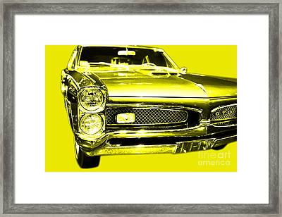 Pontiac Gto Yellow Framed Print by Wingsdomain Art and Photography
