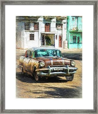 Framed Print featuring the photograph Pontiac Havana by Lou Novick