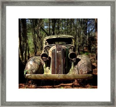 Pontiac In The Woods Framed Print