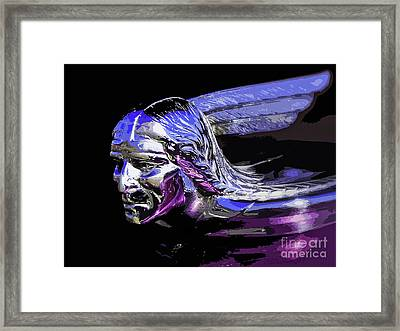 Pontiac Indian Head Hood Ornament Framed Print