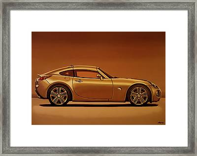 Pontiac Solstice Coupe 2009 Painting Framed Print
