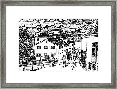 Pontresina Switzerland Framed Print by Monica Engeler