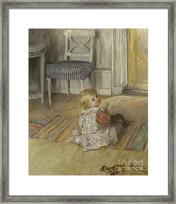 Pontus, 1890 Framed Print by Carl Larsson