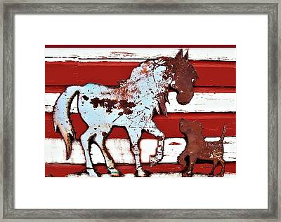 Pony And Pup 3 Framed Print