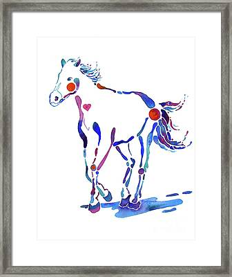 Pony Canter With Love Framed Print by Jo Lynch