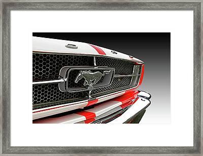 Pony Car Grille Framed Print
