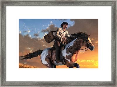 Pony Express Framed Print