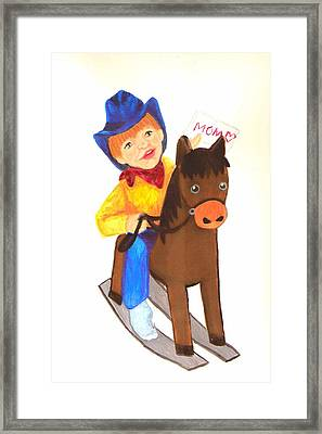 Pony Express Framed Print by Jeanette Lindblad
