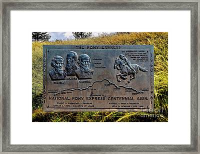 Pony Express Route Framed Print
