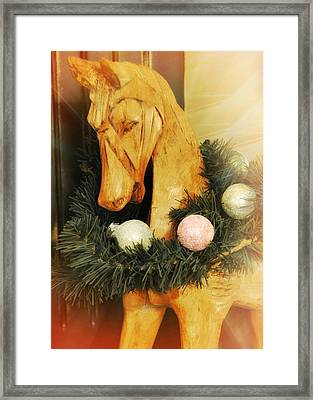 Pony For Christmas Framed Print by JAMART Photography