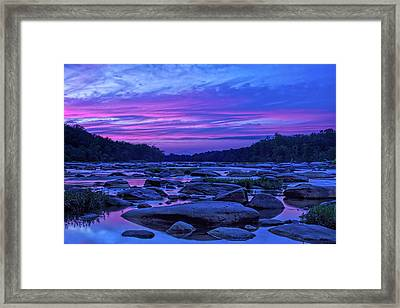 Pony Pasture Sunset Framed Print