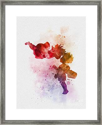 Ponyo Framed Print by Rebecca Jenkins
