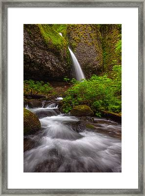 Ponytail Falls Framed Print by Darren  White