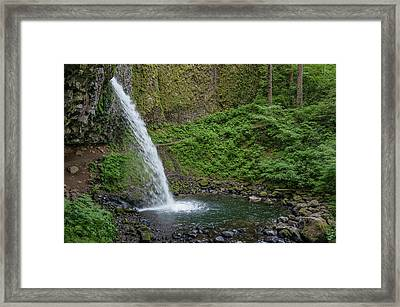 Framed Print featuring the photograph Ponytail Falls by Greg Nyquist