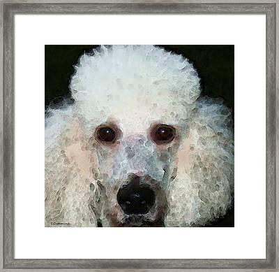 Poodle Art - Noodles Framed Print