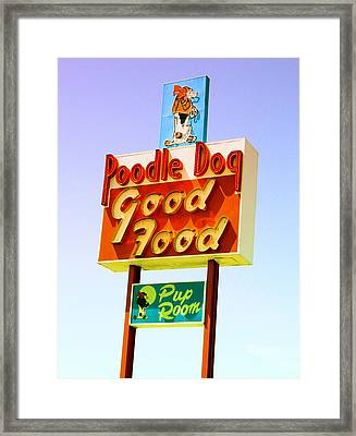 Poodle Dog Diner Framed Print by Kathleen Grace