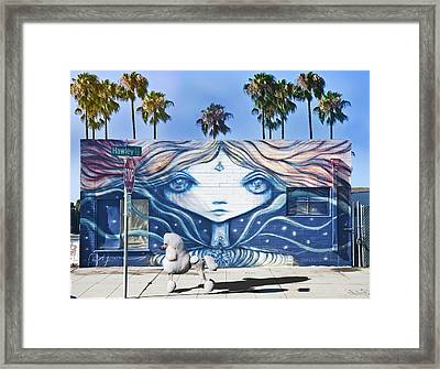 Poodle On Parade Framed Print by Larry Butterworth