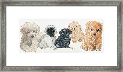 Poodle Puppies Framed Print